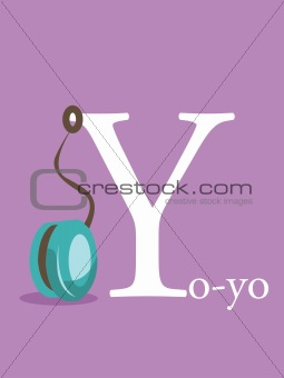Colorful abc, letter Y