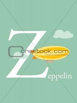 Colorful abc, letter Z