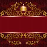Red background with gilded ornament
