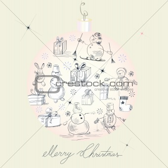 Card with snowmans