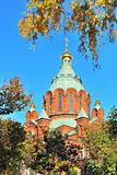 Helsinki. Assumption Cathedral in  autumn 