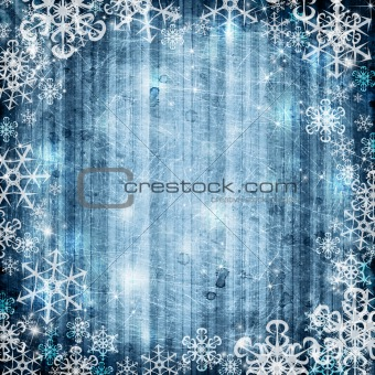 Abstract background with snowflake