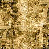 Numbers over Grunge Background
