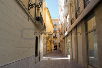Alley way in Valencia, Spain
