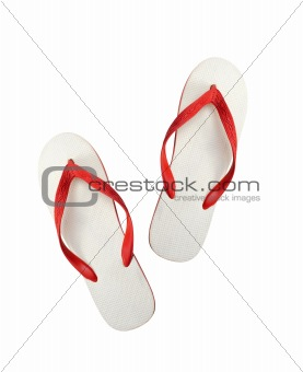 beach shoes isolated on white
