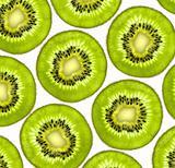 Fresh juicy kiwi slices background
