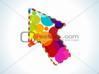 abstract colorful circles based cursor