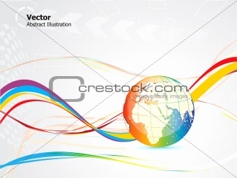 abstract colorful globe design