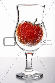 tomatto in glass