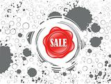 abstract shiny sale icon with grungy background