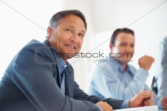 Mature business man smiling