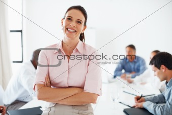 Beautiful female executive