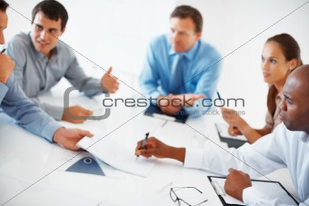 Executives having conversation