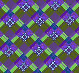 Violet-green plaid fabric(0).jpg