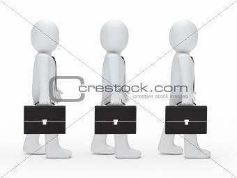3d man tie briefcase