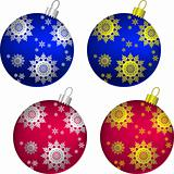 vector set of Christmas balls