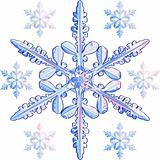vector transparent snowflake