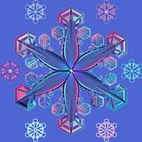 vector blue transparent snowflake