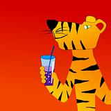 Tiger drinks cocktail