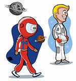 Cartoon astronauts