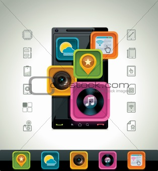 Vector smartphone icon