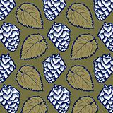 hop leaves pattern