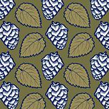 hop leaves pattern