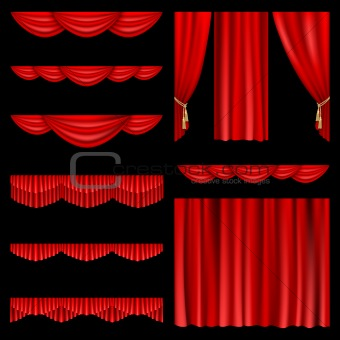 Red curtains