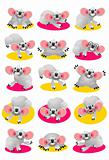 Koala Bear Character Set