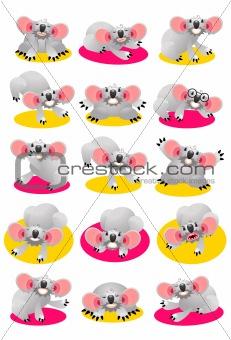 Koala Bear Character Set