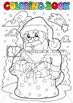 Coloring book Santa Claus theme 3