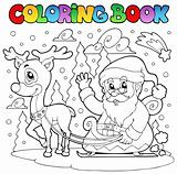 Coloring book Santa Claus theme 4