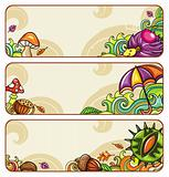 Autumnal banners series