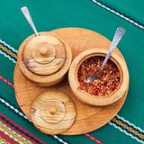 Exotically Spice Mix in wooden cup