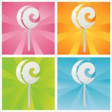 colorful lollipops backgrounds