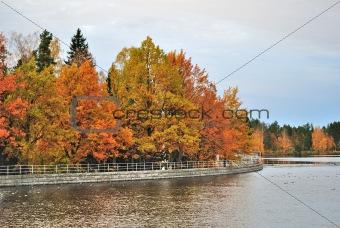Imatra, Finland. Reservoir and park Kruununpuisto
