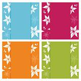 floral card backgrounds