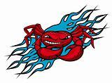 Cardinal crab tattoo