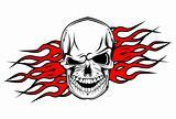 Danger skull tattoo