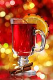 Orange and cranberry punch with spices
