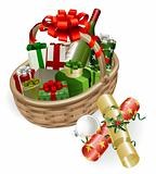 Christmas basket illustration