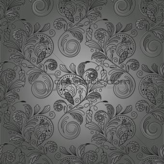 vector seamless monochrome  background