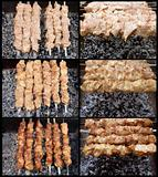Shish kebab preparation