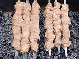 Shish kebab preparation1