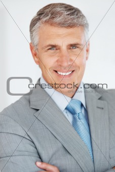 Successful mature business man smiling