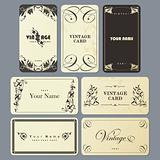 Set of Vintage business card templates