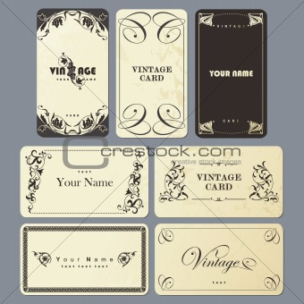 Image 4345713 set of vintage business card templates from crestock set of vintage business card templates wajeb Images