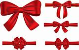 Festive ribbons with bows