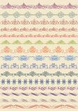 vintage border, vector set