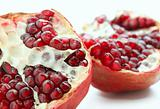 closeup of tasty pomegranate fruit